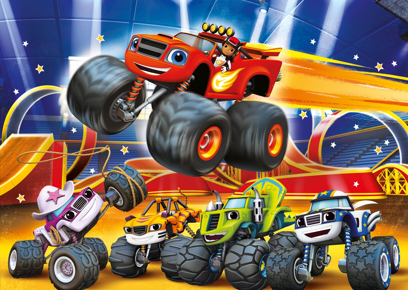 It's just a picture of Soft Blaze and the Monster Machines Images
