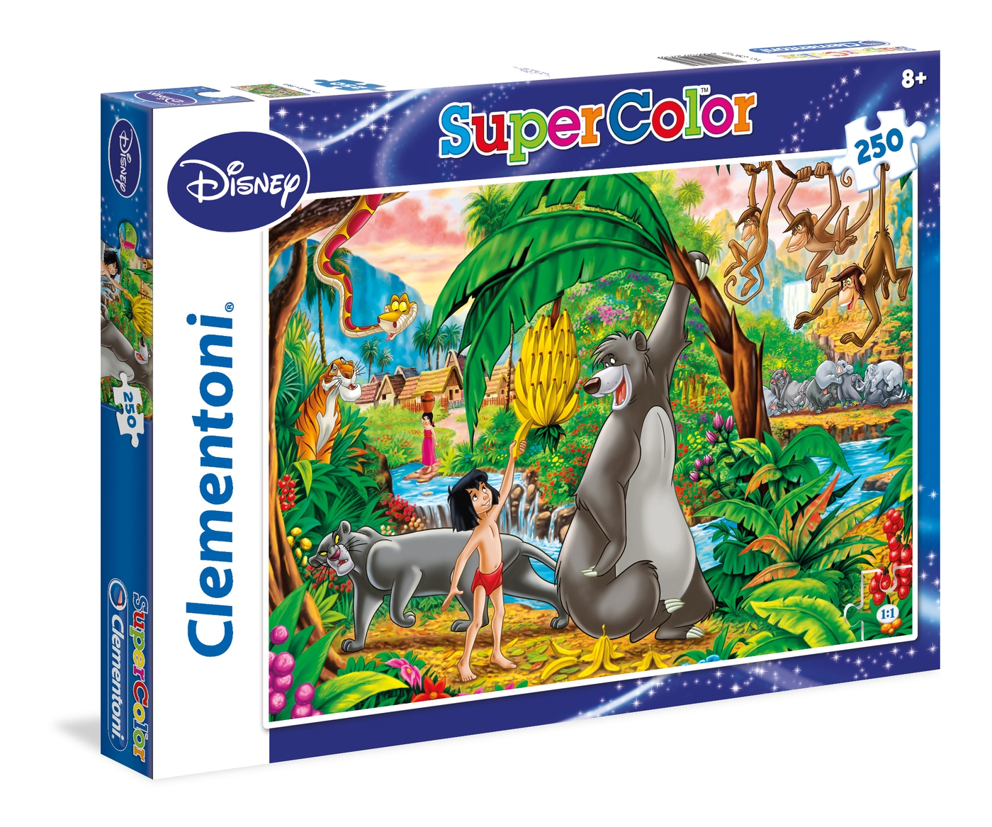 Disney Livre De La Jungle 250 Pcs Super Color Clementoni