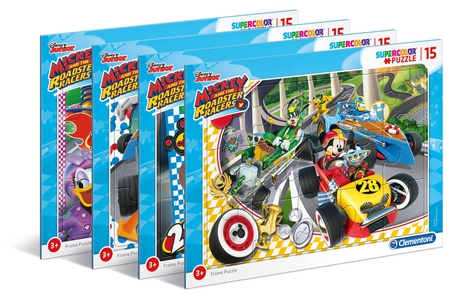 Disney mickey and the roadster racers 15 pezzi puzzle for Cornice per puzzle 1500 pezzi
